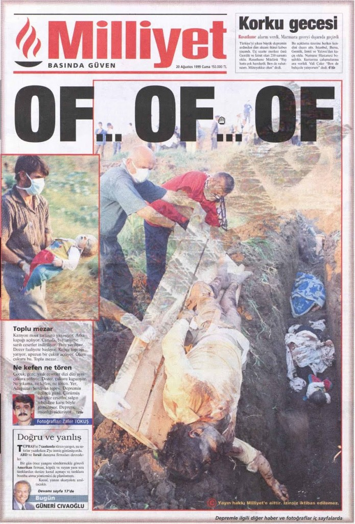Milliyet, Friday 20 August 1999