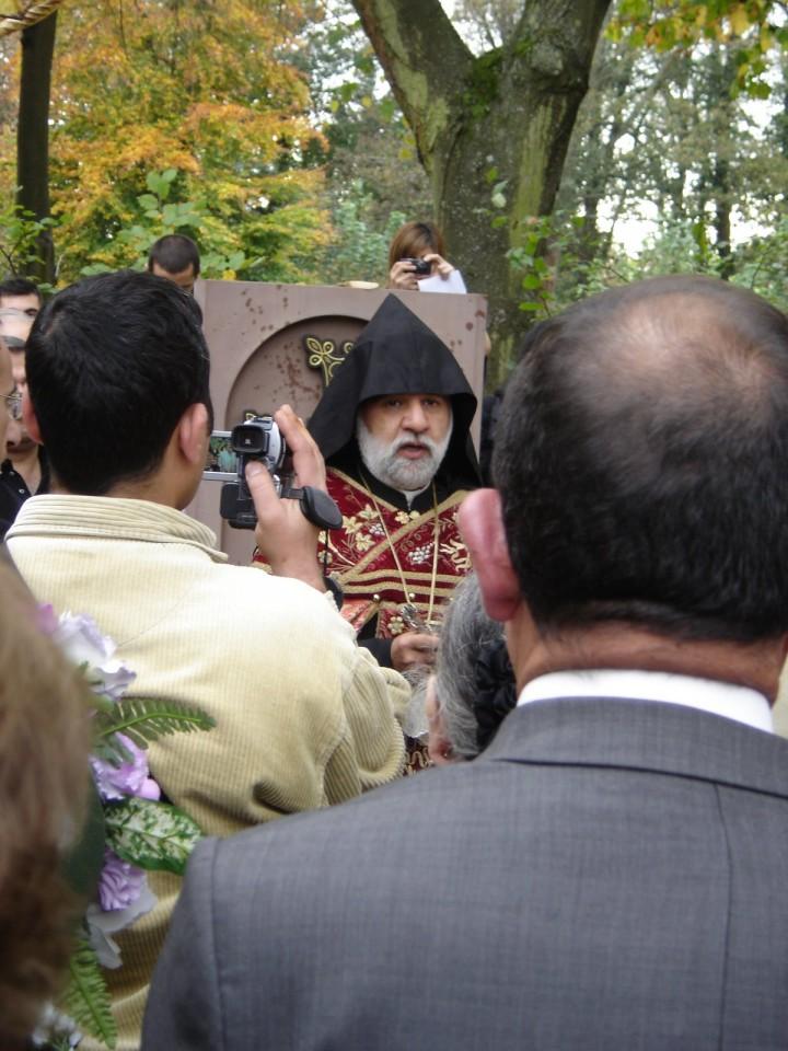 Armenian khatchkar blessing
