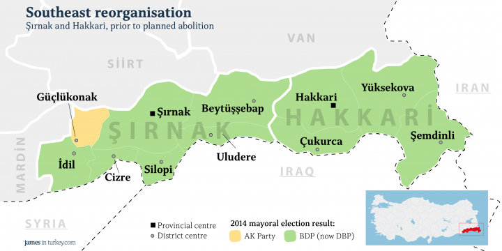 The old Şırnak and Hakkari as they stand today