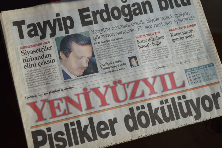 'Tayyip Erdogan is finished' - Yeni Yüzyıl, Thursday 24 September 1998